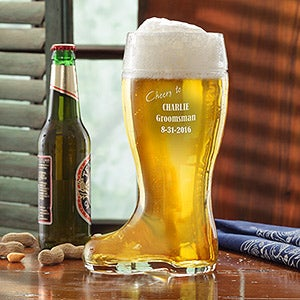 Personalized Beer Boot for Groomsmen - 7907