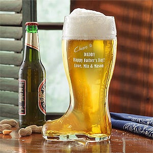 Personalized Glass Beer Boot - 7909