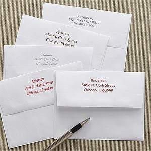 Addressing A Wedding Gift Card : Personalized Stationery Gifts & Gift Ideas Personalization Mall