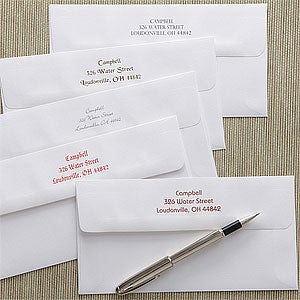 Printed Postcard Envelopes with Return Address - 7914
