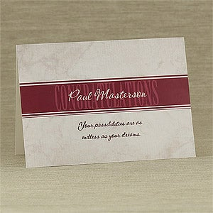 Formal Congratulations Personalized Greeting Cards - 7938