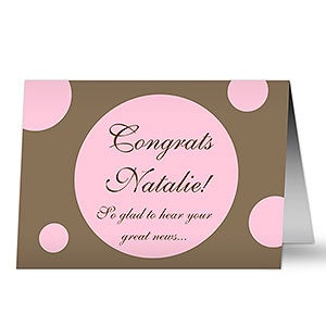 Personalized Polka Dot Personalized Greeting Cards - 7939