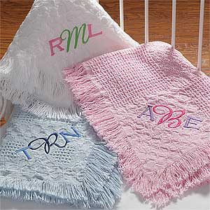 Baby Blankets with Personalized Monogram - 7946