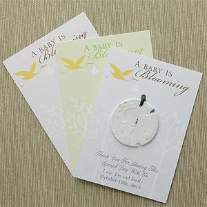 Personalized Flower Seed Baby Announcement - 7962