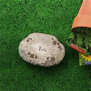 Personalized Garden Stepping Stones   Irish Shamrocks   7966