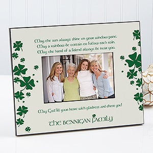 Irish Blessings Personalized Picture Frames - 7967