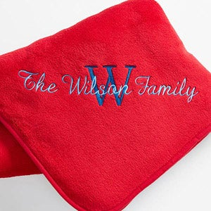 Personalization Mall Red Personalized Fleece Blanket - Name & Monogram at Sears.com