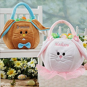 Personalized Easter Baskets - Plush Easter Bunny  - 7974