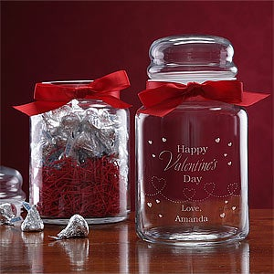 Personalized Valentine's Day Candy Jar with Chocolates - 7977