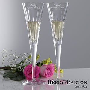 Personalization Mall Personalized Crystal Champagne Flutes by Reed & Barton at Sears.com