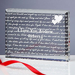 Personalized Romantic Paperweight - How Do I Love Thee - 7982