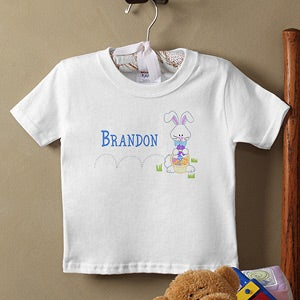 Personalization Mall Personalized Kids Easter T-Shirt - Hopping Easter Bunny at Sears.com