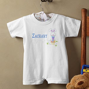 Personalization Mall Personalized Easter Baby Romper - Hopping Easter Bunny at Sears.com