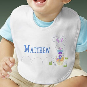 Personalization Mall Personalized Easter Baby Bib - Hopping Easter Bunny at Sears.com