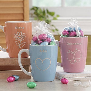 Ladies Personalized Mugs with Chocolate Eggs - Just For Her - 7990