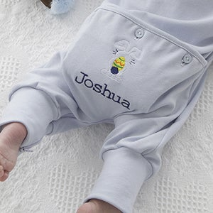 Personalization Mall Personalized Easter Bunny Baby Romper - Blue at Sears.com