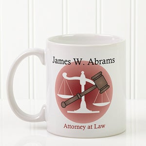 Personalized Ceramic Coffee Mug - Legal Design - 8009
