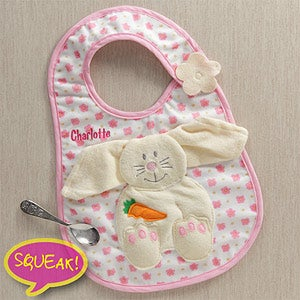 Personalization Mall Easter Gifts -  Personalized Easter Bunny Bib & Washcloth for Girls - Pink at Sears.com