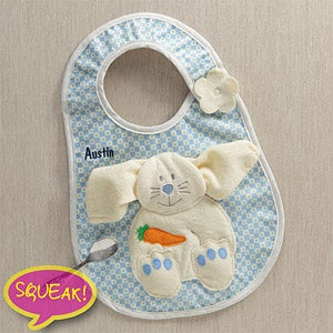 Personalization Mall Easter Gifts -  Personalized Easter Bunny Bib & Washcloth for Boys - Blue at Sears.com