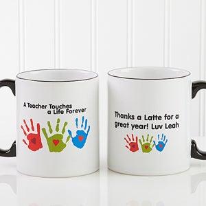 Personalization Mall Personalized Teacher Coffee Mug - Kids Handprints at Sears.com