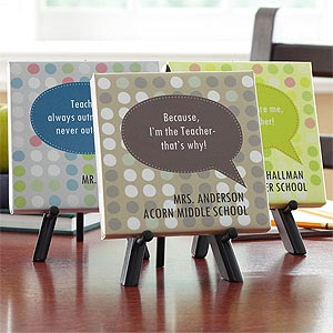 Personalized Teacher Canvas Keepsake Gift - Teacher Quotes - 8044