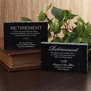 Personalized Retirement Gift Engraved Marble Keepsake