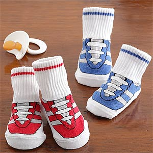Personalization Mall Baby Boy Gym Shoe Sock Set at Sears.com