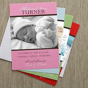 Personalized Photo Birth Announcements - Precious Photo - 8073