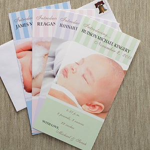 Personalization Mall Photo Personalized Birth Announcements - Introducing Baby at Sears.com