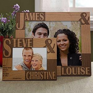Couple's Custom Wood Frame