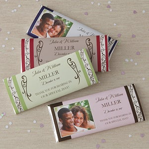 Personalized Wedding Favor Candy Bar Wrers 8117