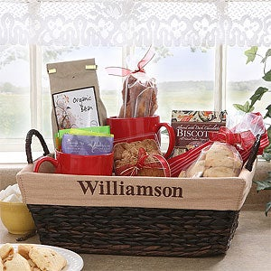 Personalized Woven Wicker Basket - 8119