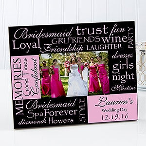 Bridesmaids Personalized Picture Frames - 8127