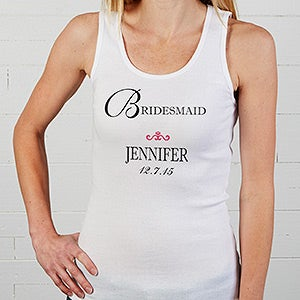Personalization Mall Personalized Bridal Party Tank Top at Sears.com