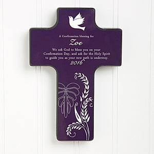 Confirmation Gifts - Personalized Wall Cross Keepsake - 8129