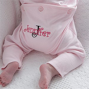 Personalized Baby Girl Rompers - Pink - All About Me - 8134