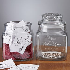 Wedding Wishes Personalized Keepsake Jar - 8136