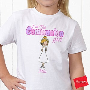 Personalized Kids T-Shirts - Communion Girl - 8143