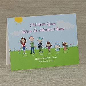 Personalized Mother's Day Cards - A Mother's Love - 8149