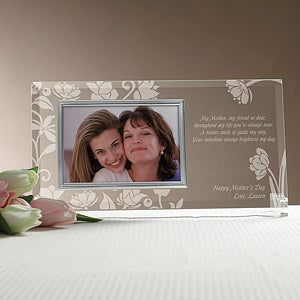 Personalized Glass Picture Frame for Mothers - Her Love Blooms - 8158