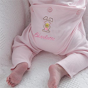 Personalization Mall Personalized Easter Bunny Baby Romper - Pink at Sears.com