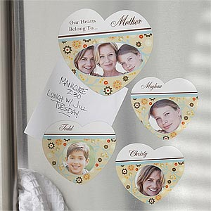 Personalized Photo Magnets - Our Hearts Belong To - 8184
