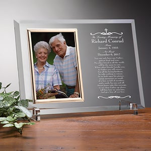 Personalized Glass Memorial Picture Frame - We Shall Meet Again - 8201