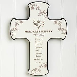 Personalized Memorial Wall Cross - In Loving Memory - 8202