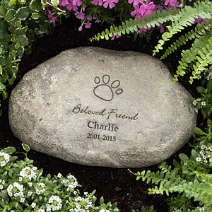 Personalized Pet Memorial Stones - In Loving Memory - 8232