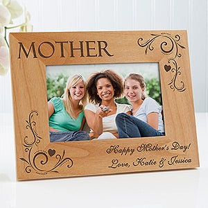 Personalized Picture Frames for Mom - Loving Hearts - 8240