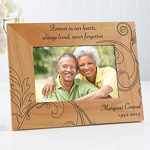 Personalized Memorial Picture Frame - Never Forgotten - 8247