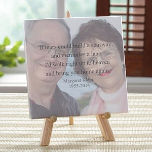 Personalized Memorial Photo Canvas Keepsake Gift - 8253