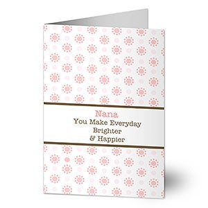 Personalized Mother's Day Greeting Cards - Brighter Days - 8263