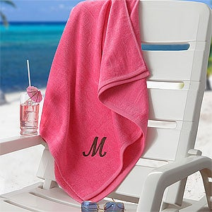 Personalization Mall Mother's Day Gifts -  Personalized Pink Beach Towel at Sears.com